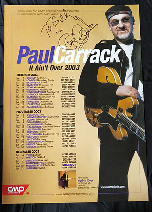 Paul Carrack Signed Tour Poster 2003 - Mike And The Mechanics