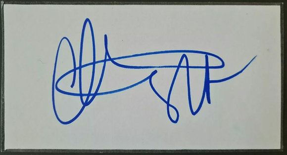 Christian Slater Signed Index Card - True Romance, Heathers
