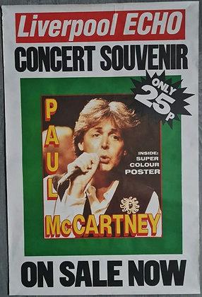 Liverpool Echo 'Paul McCartney Concert Souvenir Special' Poster from June 1990