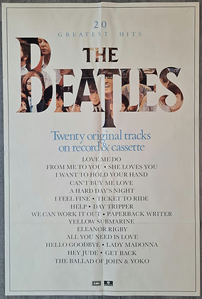 The Beatles '20 Greatest Hits' Promo Poster from 1982