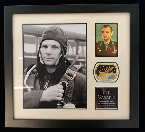 Yuri Gagarin Signed Display
