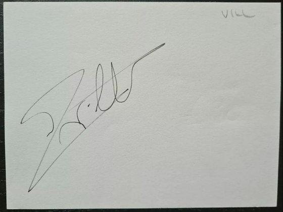 Jacques Villeneuve Autograph - Formula One World Champion (1997), Williams F1