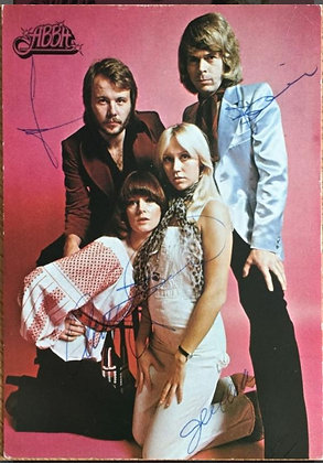 ABBA Signed Postcard