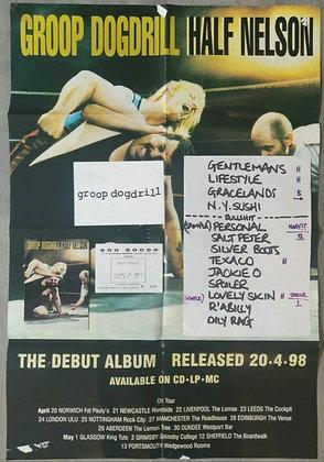 Groop Dogdrill Setlist & Ticket from Edinburgh 1998 + Poster & Postcards (x2)