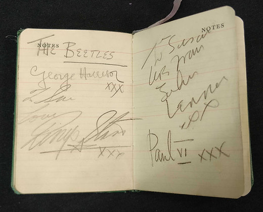 Beatles Signed Diary