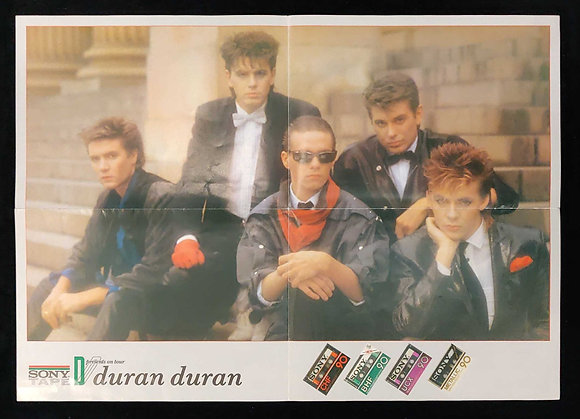 Duran Duran Fold-Out Advert Poster 1982 - Sony Tape Presents