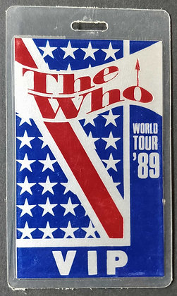 The Who VIP pass 1989