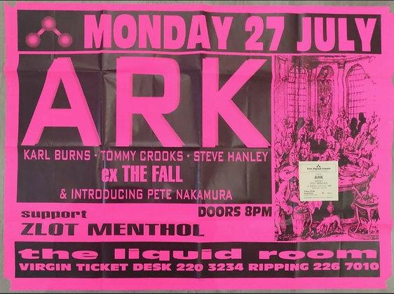 ARK Promo Poster and Ticket Stub from Edinburgh Liquid Room, 1998 - The Fall