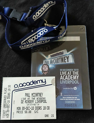 Paul McCartney 2010 Liverpool Ticket Lanyards