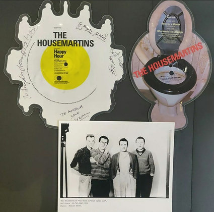 The Housemartins Signed 'Happy Hour' Picture Disc + Picture Disc & Promo Photo