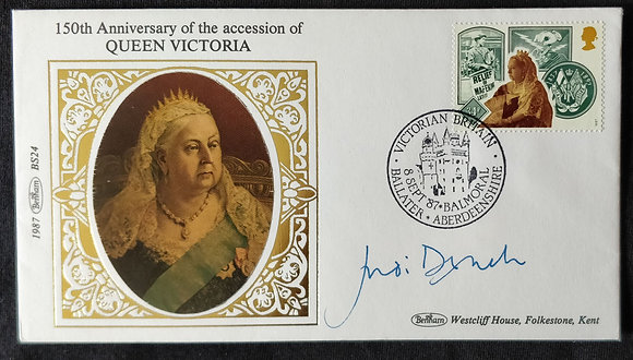 Judi Dench Signed 1987 Queen Victoria First Day Cover