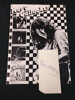Rory Gallagher Programme & Autograph