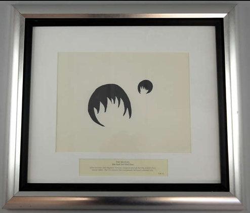 John Lennon Original Framed Artwork from Beatles Music Video