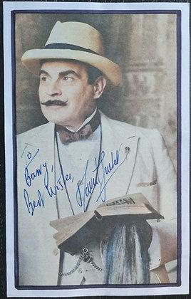 David Suchet Signed Paper Cutting - Hercule Poirot