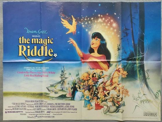 The Magic Riddle (1991) UK Quad Poster - Cinderella, Pinocchio, Snow White