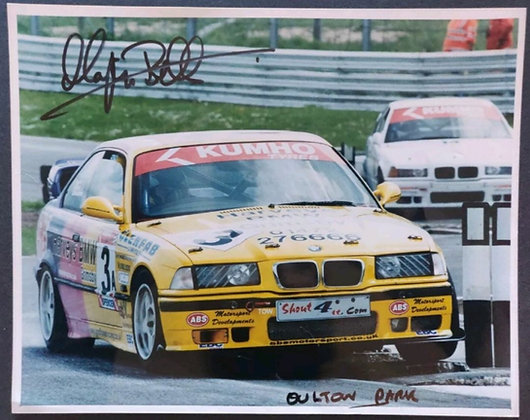 Martyn Bell Signed Photo - Oulton Park, BMW Championship, 2001