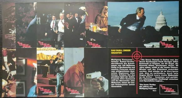In The Line Of Fire (1993) German Lobby Cards (x12) - Clint Eastwood