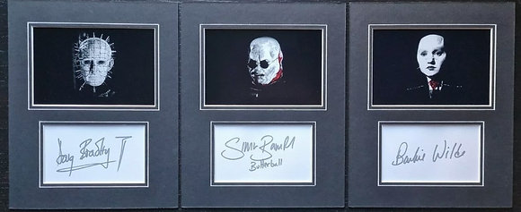 Doug Bradley, Simon Bamford, Barbie Wilde Signed Hellraiser Displays + COA (x3)