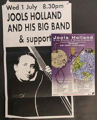 Jools Holland Signed Poster & Flyer