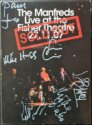 The Manfreds Signed 'Live At The Fisher Theatre 27.11.07' DVD