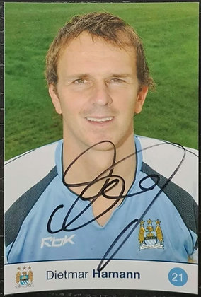 Dietmar Hamann Signed Promo Postcard - Man City FC