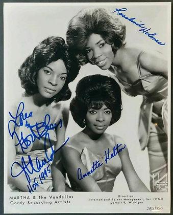 Martha & The Vandellas Signed Ltd Edition Photo 282/300 - Martha Reeves HOF 1995