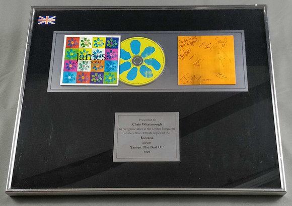 James Signed and Framed Disc Award Display