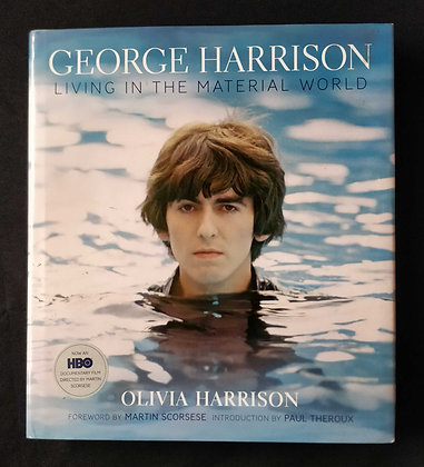 George Harrison Living In The Material World Book Signed by Olivia Harrison