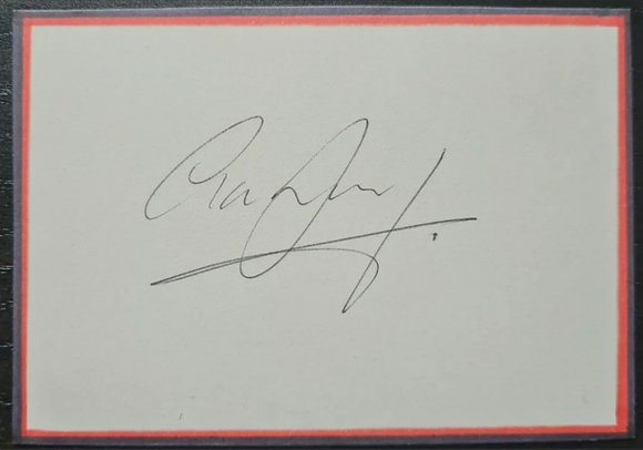 Liam Brady Signed Index Card - Republic of Ireland Footballer, Arsenal, Juventus