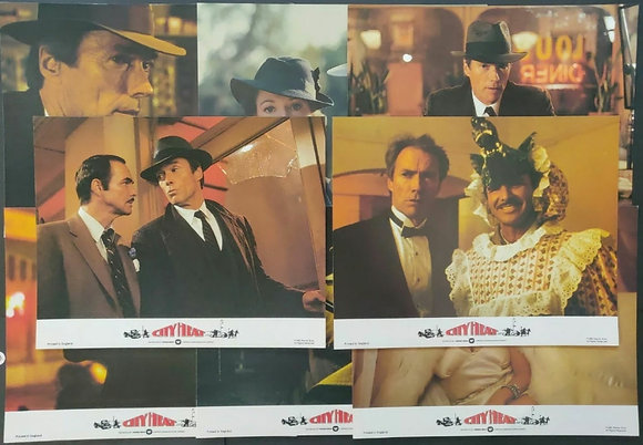 City Heat (1985) UK FOH/Lobby Card Set of 8 - Clint Eastwood, Burt Reynolds