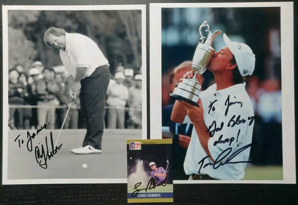 American Golfer Signed Photos (X2) + Card - Craig Stadler, Tom Lehman + 1
