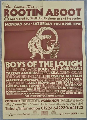 Rootin Aboot Festival Promo Poster from 1998 - The Lemon Tree, Aberdeen