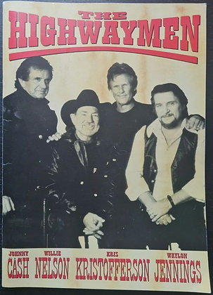 The Highwaymen European Tour Programme from 1992 - Johnny Cash, Willie Nelson