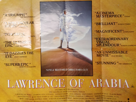 Lawrence Of Arabia (1962) Quad Poster