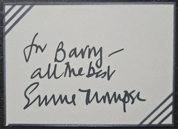 Emma Thompson Signed Index Card - Love Actually, Sense and Sensibility
