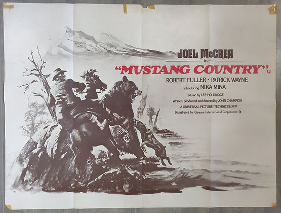 Mustang Country (1976) Cinema Quad Poster