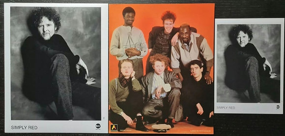 Simply Red Promo Photo (x3) - Mick Hucknall - East West, Anabas