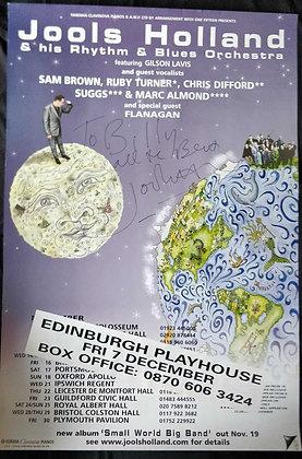 Jools Holland Signed Poster Edinburgh Playhouse 2001