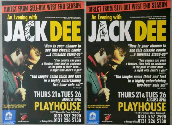 Jack Dee Signed Posters (X2) from Edinburgh Playhouse, 1997