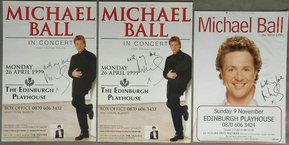 Michael Ball Signed Posters (X3) from Edinburgh Playhouse 1999 & 2003