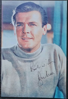 Roger Moore Signed Photo - James Bond