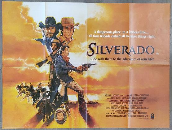 Silverado (1985) Cinema Quad Poster - John Cleese, Kevin Costner, Kevin Kline