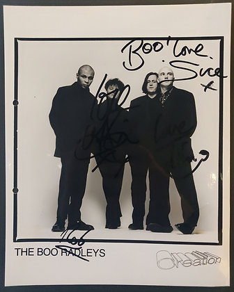 The Boo Radleys Signed Promo Photo with COA - Creation Records