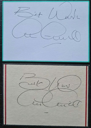 Archie Gemmill Signed Index Cards (X2)