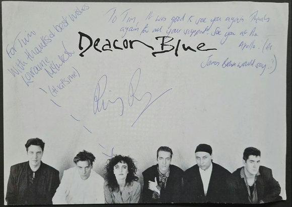 Deacon Blue Signed Large Postcard - Lorraine McIntosh & Ricky Ross
