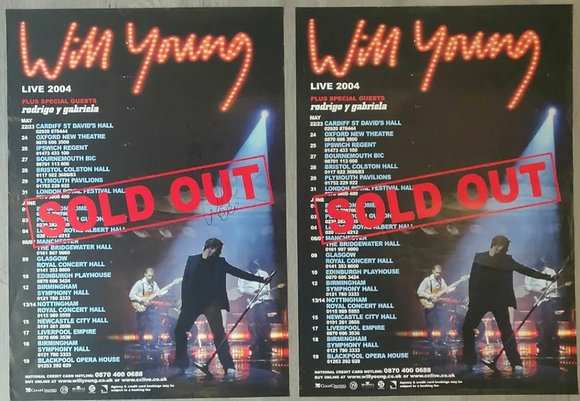 Will Young Signed Posters (X2) from Edinburgh Playhouse, 2004