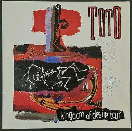 Toto Signed 1993 'Kingdom Of Desire' Tour Programme - Steve, David & Michael