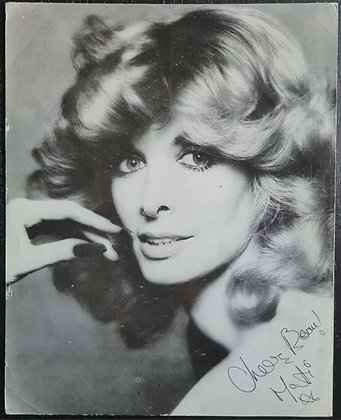 Marti Caine Signed B&W Photo Print - Comedian/Actress/Singer - 'New Faces'