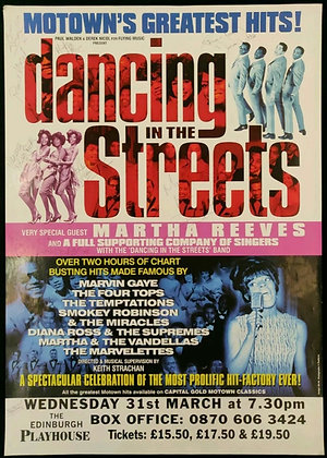 Dancing In The Streets Signed Poster Edinburgh Playhouse