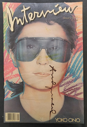 Andy Warhol Signed Magazine Cover